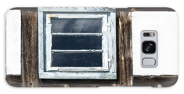 Small Blue Window Galaxy Case