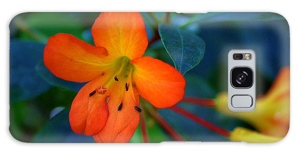 Small Orange Flower Galaxy Case by Tikvah's Hope