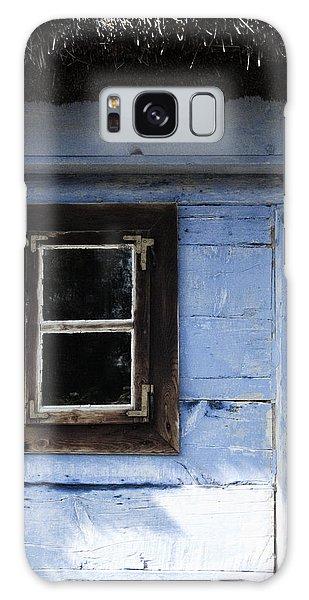 Small Window On Blue Wall Galaxy Case