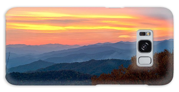 Smoky Mountains Burning Sunset Galaxy Case