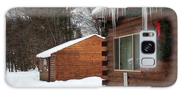 Snow Covered General Store Galaxy Case by Ann Murphy