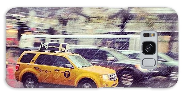 Place Galaxy Case - Snow In Nyc by Randy Lemoine