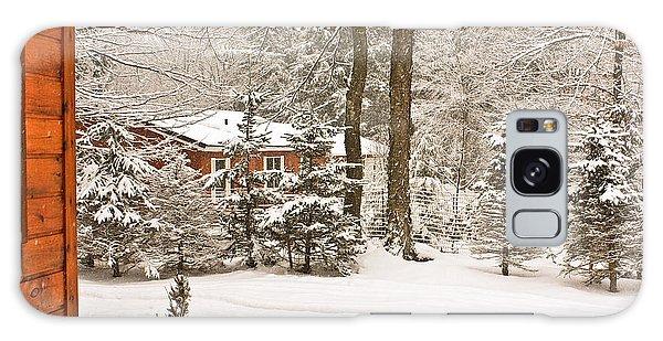Snow In The Adirondacks Galaxy Case by Ann Murphy