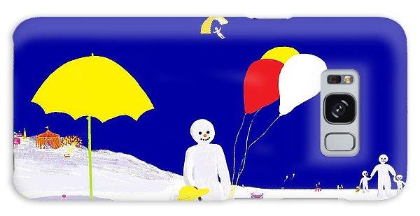 Snowman Family Holiday Galaxy Case by Barbara Moignard