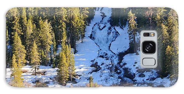 Snowy Heart Falls Galaxy Case by Lynn Bauer