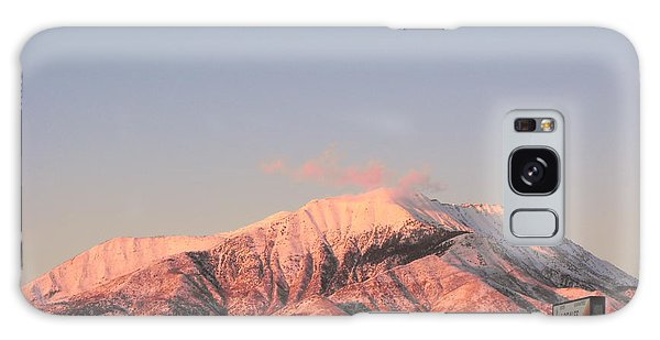 Snowy Mountain At Sunset Galaxy Case by Adam Cornelison