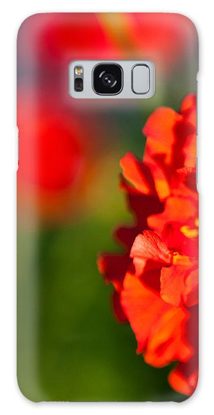 Soft Red Flower Galaxy Case