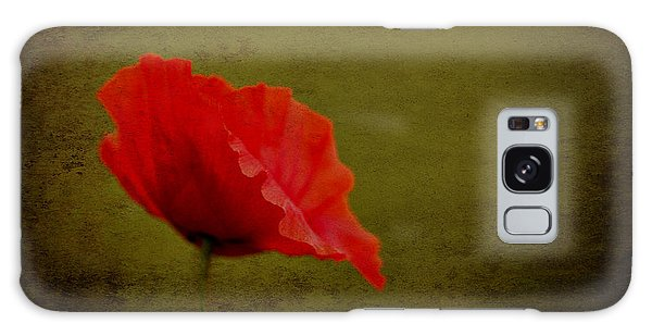 Solitary Poppy. Galaxy Case by Clare Bambers