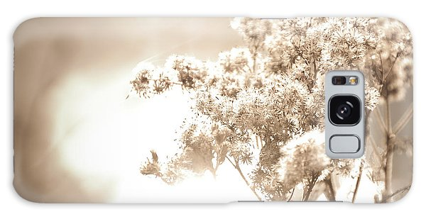Galaxy Case - Sparkly Weeds In Sepia by Cheryl Baxter