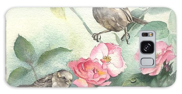 Sparrows And Dog Rose Galaxy Case