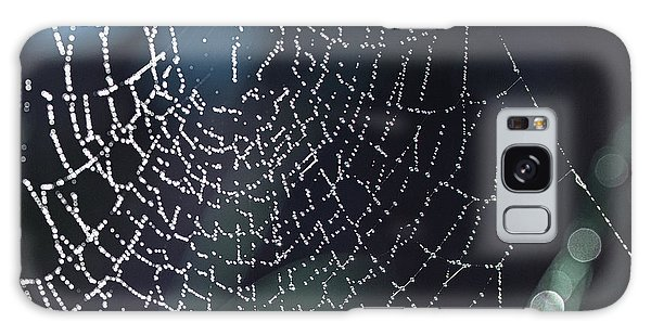 Spiderweb Blues Galaxy Case by Artist and Photographer Laura Wrede