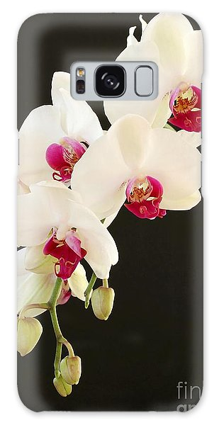 Spray Of White Orchids Galaxy Case