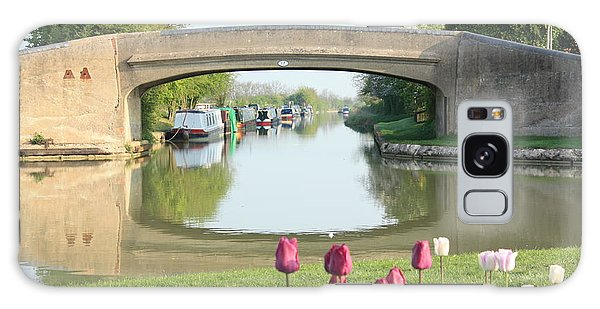 Spring On The Oxford Canal Galaxy Case by Linsey Williams