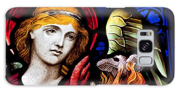 Stained Glass Angel Galaxy Case by Verena Matthew
