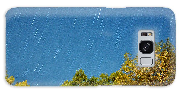 Star Trails On A Blue Sky Galaxy Case by Kay Lovingood