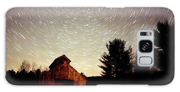 Star Trails Over Sugar Shack Galaxy Case