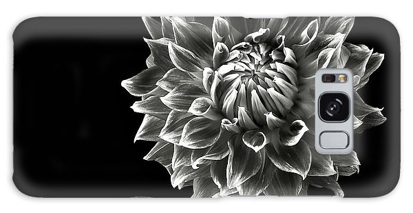 Starburst Dahlia In Black And White Galaxy Case by Endre Balogh