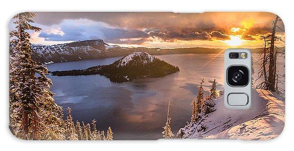 Starburst Sunrise At Crater Lake Galaxy Case