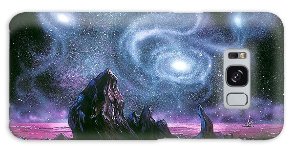Starry Skies On Unknown Shores Galaxy Case