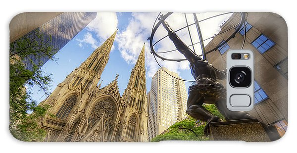 Statue And Spires Galaxy Case