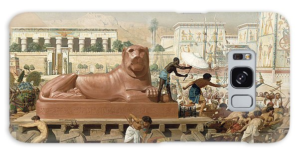 Whip Galaxy Case - Statue Of Sekhmet Being Transported  Detail Of Israel In Egypt by Sir Edward John Poynter