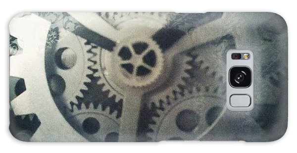 #steampunk #gears #clock #webstagram Galaxy Case