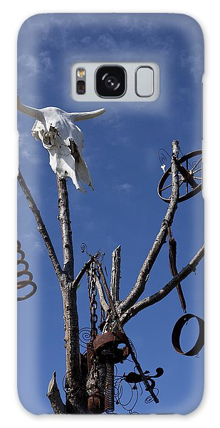 Rusty Chain Galaxy Case - Steer Skull In Tree by Garry Gay