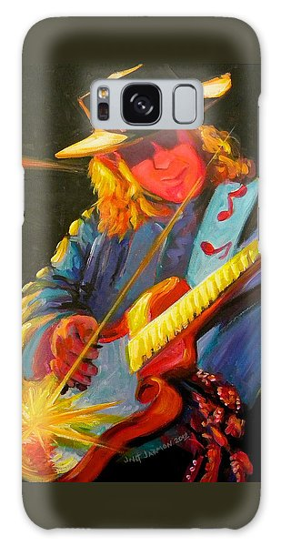 Stevie Ray Vaughn Galaxy Case by Jeanette Jarmon