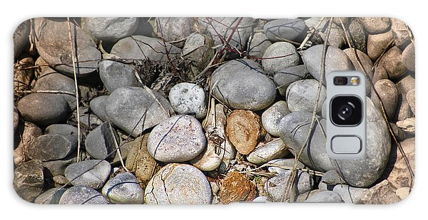 Sticks And Stones Can Hurt Galaxy Case by Cathy  Beharriell