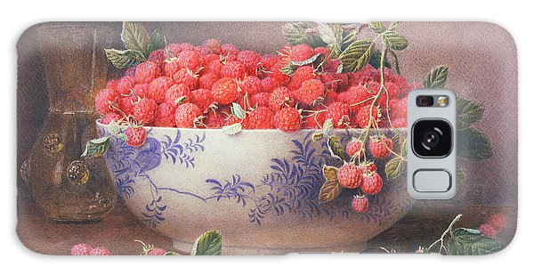 Raspberry Galaxy S8 Case - Still Life Of Raspberries In A Blue And White Bowl by William B Hough