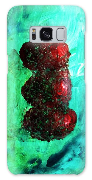 Still Life Red Apples Stacked On Green Table And Wall Fruit Is About To Topple Smush Impressionistic Galaxy Case