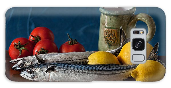 Still Life With Mackerels Lemons And Tomatoes Galaxy Case