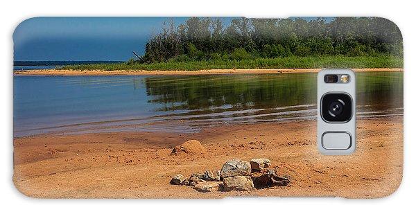 Stones On The Beach Galaxy Case by Doug Long