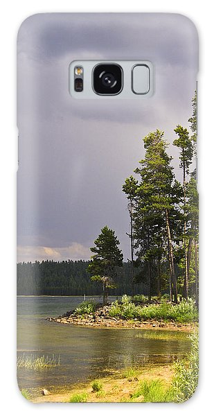 Storm Clouds Over A Lake Galaxy Case by Anne Mott
