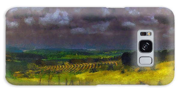 Storm Clouds Over Meadow Galaxy Case