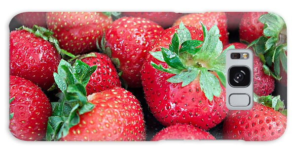 Strawberry Delight Galaxy Case by Sherry Hallemeier