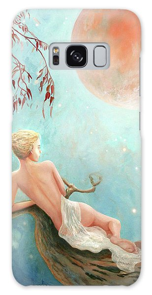 Strawberry Moon Nymph Galaxy Case by Michael Rock