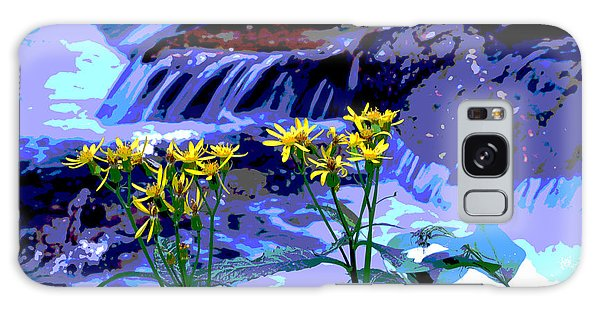 Stream And Flowers Galaxy Case