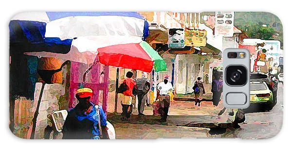 Street Scene In Rosea Dominica Filtered Galaxy Case