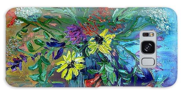 Summer Bouquet Galaxy Case by Carol Berning