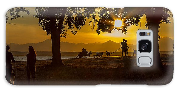Summer's Last Sunset Galaxy Case by Ken Stanback