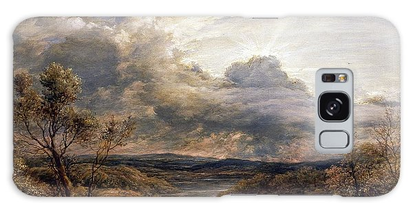 Sun Behind Clouds Galaxy Case by John Linnell