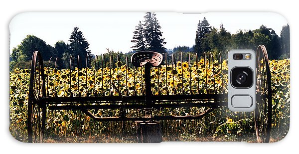 Sunflower Farm Scene Galaxy Case by Maureen E Ritter