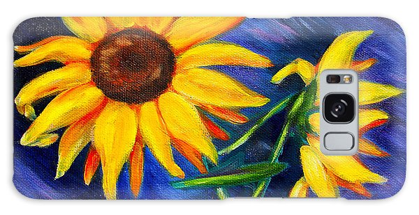 Sunflowers Galaxy Case by Diana Haronis