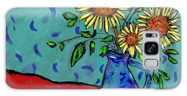Sunflowers In A Milk Pitcher Galaxy Case