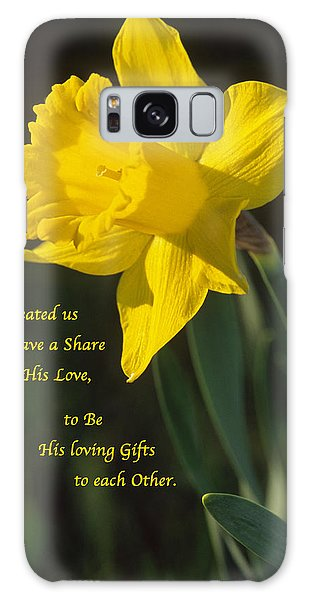 Sunny Daffodil With Quote Galaxy Case