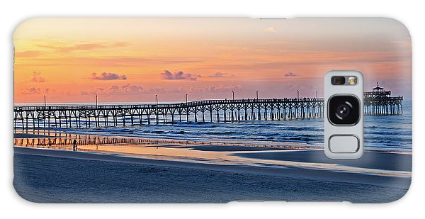Sunrise At Cherry Grove Pier Galaxy Case by Bob and Nancy Kendrick