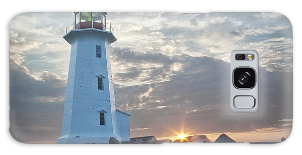 Sunrise At Peggys Cove Lighthouse In Nova Scotia Number 041 Galaxy Case
