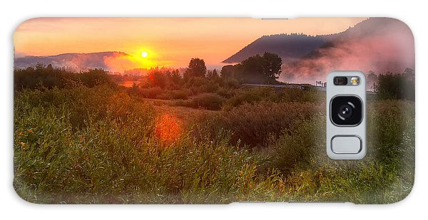 Sunrise At Snake River Galaxy Case