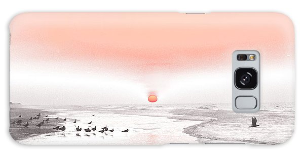 Pastel Sunrise Beach Galaxy Case